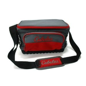 Cabela's 12- Can Soft-Sided Cooler Bag Gray/Red